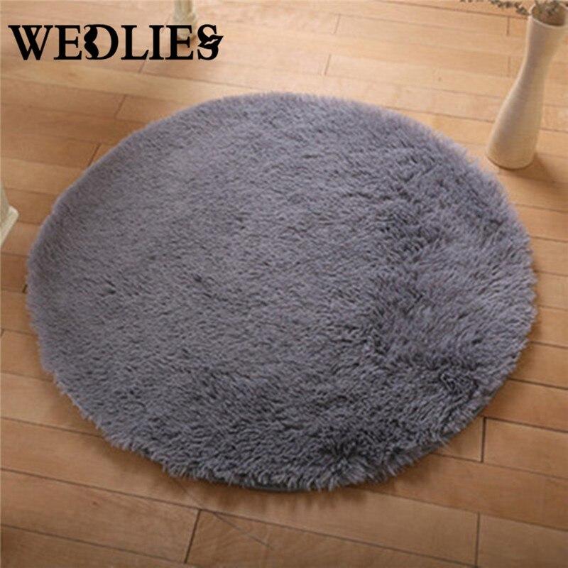 Grey Floor Mats Modern Shaggy Round Rugs And Carpets Non Slip Shower Living  Room Bedroom Carpet Rug For Home Yoga Mat