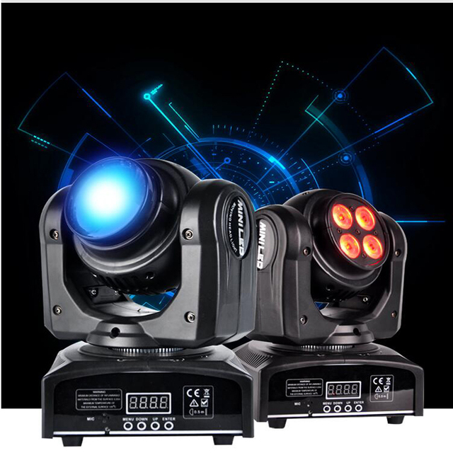 Awesome DMX 512 RGB Led Stage Light Double Side Effect Lights Beam Wash Club Show  Laser Disco