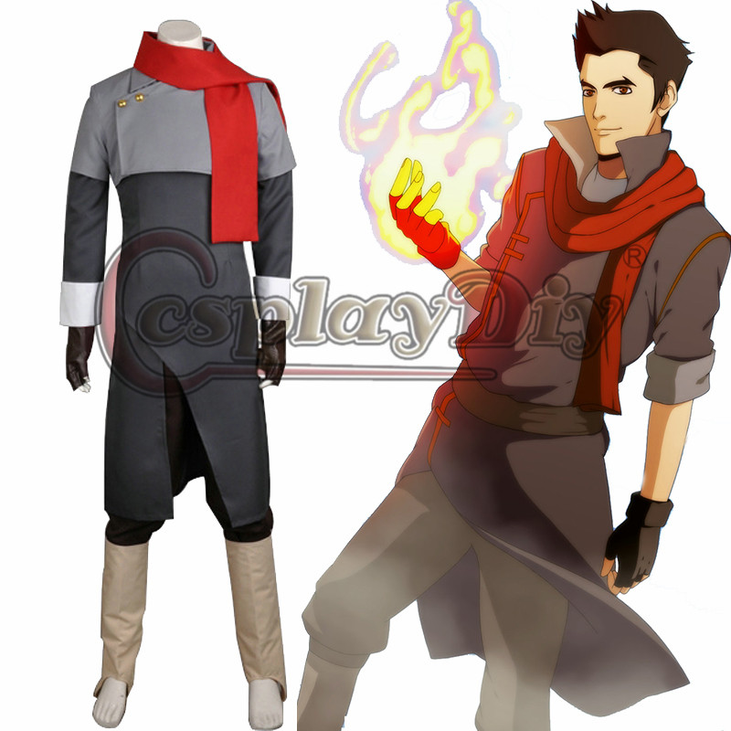 Cosplaydiy Avatar The Legend of Korra Season Two Mako Cosplay Costume Adult Men Halloween Carnival Outfit Custom Made