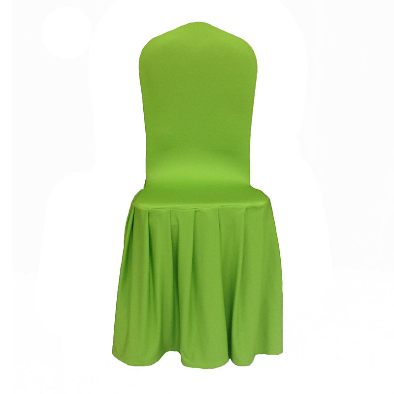 50pcs/Lot White Pleated Big Skirting Chair Cover For Wedding Decoration Lycra Chair Cover For Wedding Events Hotel Decoration
