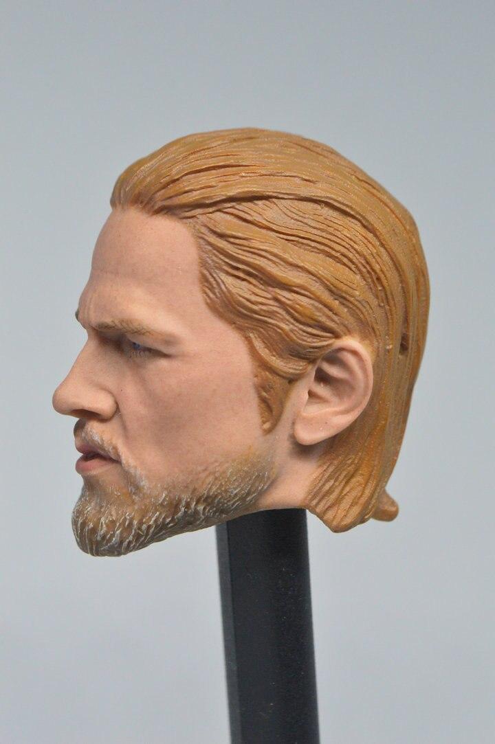TESTA MASCHIO 1//6 Charlie Hunnam INTAGLIATO SCULTURA MODELLO 2in F PH Man Action Figure