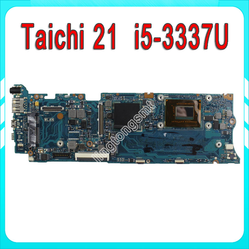 For ASUS Taichi 21 with i5-3337 CPU on board Laptop Motherboard Mainboard fully tested for asus ux31a ux31a3 laptop motherboard with i5 3517u cpu fully tested rev 4 1 top mainboard
