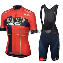 2019 Bahrain Men Summer Short Sleeve Cycling Jersey Set Quick Dry Bib Shorts  Ropa Ciclismo Clothing Bike Clothes pro team 84e59af06