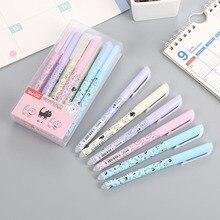 36 قطعة/الوحدة القط الحيوان قابل للمسح هلام القلم لطيف 0.38 مللي متر الأزرق الحبر قلم توقيع اجتماعيون امدادات الكتابة المدرسة الترويجية هدية