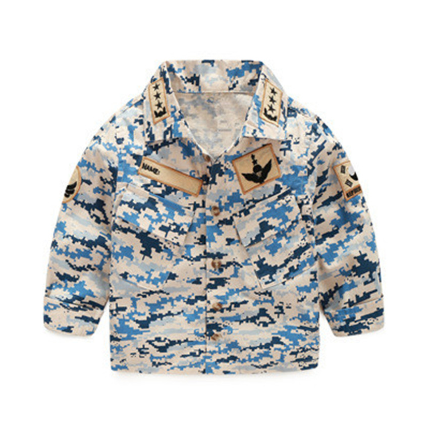 2-6 y boys long sleeve shirts spring 2018 camouflage shirt for boys causal children clothes cotton boy tops