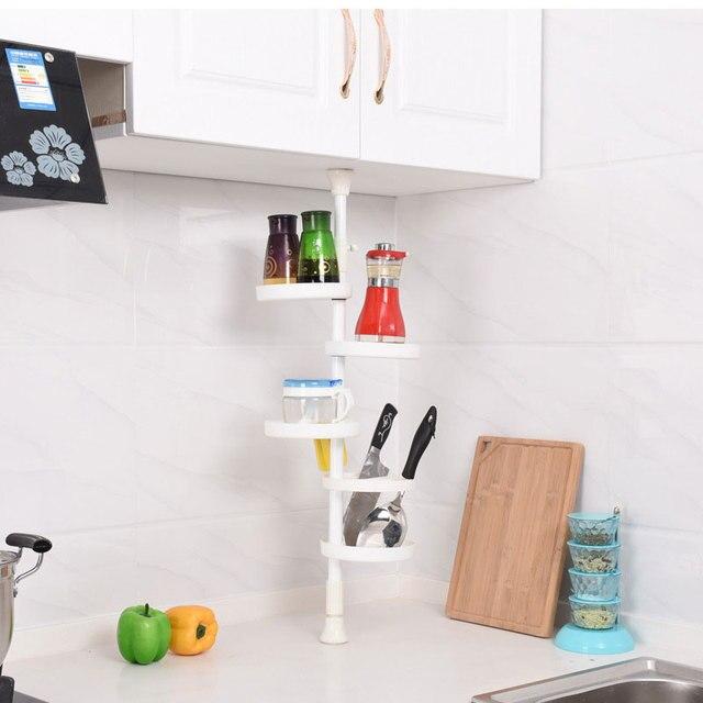 Cocina baño Taza De Baño De Plástico Estante de La Esquina de ...