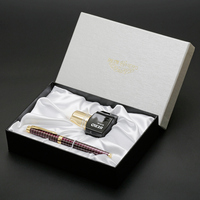 F Nib Fountain Pen Ink Set Wine Red Black Chess Board Gold Clip Luxury Gift Pens for Business Office Free Shipping