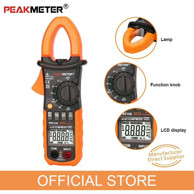 PEAKMETER PM2108 6600 брои AC DC Mini Digital Digital Clamp True - Измервателни инструменти - Снимка 5