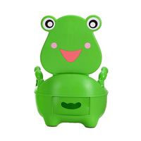 Portable Cartoon Baby Toilet Girls Boy Potty Seat Folding Chair Cute Frog Drawer Training Toilet FJ88