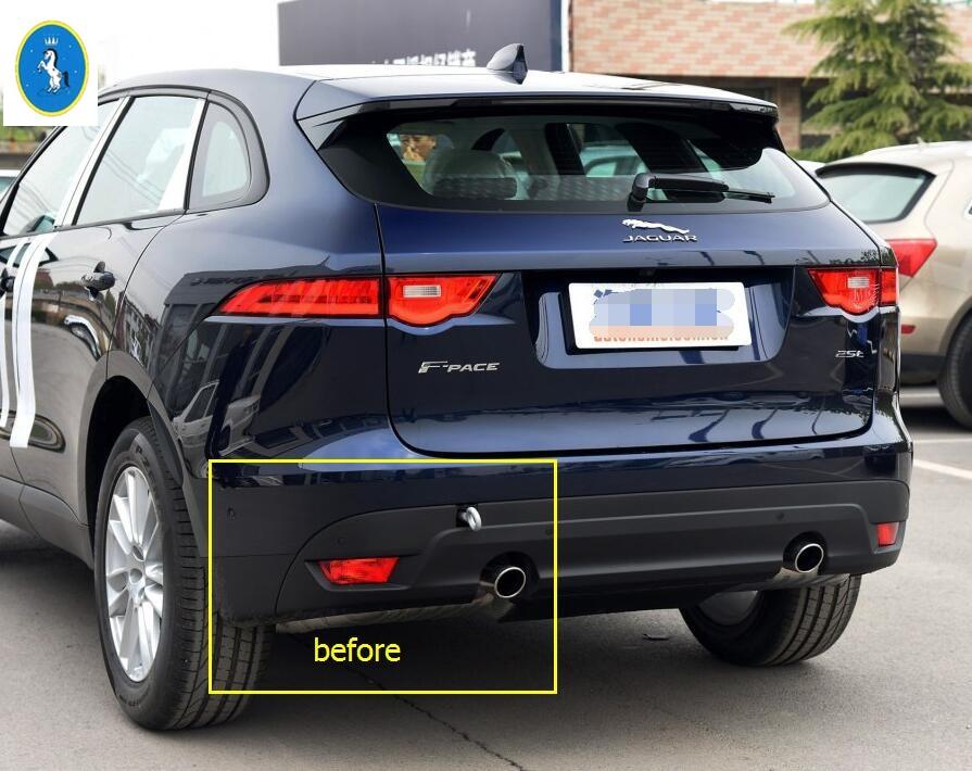 Exterior For Jaguar F-Pace 2017 ABS Rear Behind Fog Lamp Light Frame Cover Decoration Trim 2 Pcs / Set jaguar jaguar for men edt spr