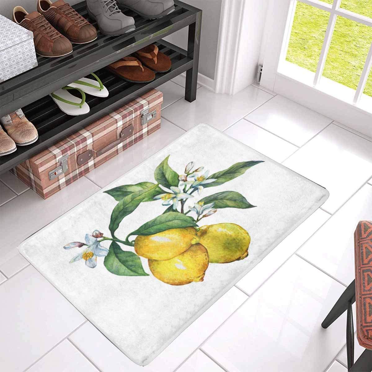 Fresh Gold Oranges Home Bedroom Carpet Round Floor Mat Non-Slip Bathroom Rug Mat