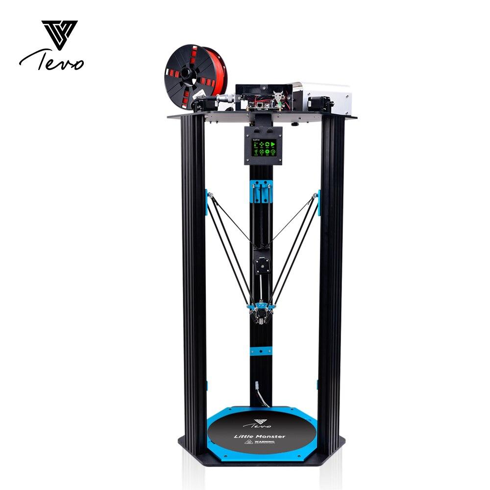 Más nuevo pequeño monstruo de TEVO Delta 3D impresora área de impresión grande de aluminio de extrusión/Smoothieware/MKS TFT28/Bltouch para 3D