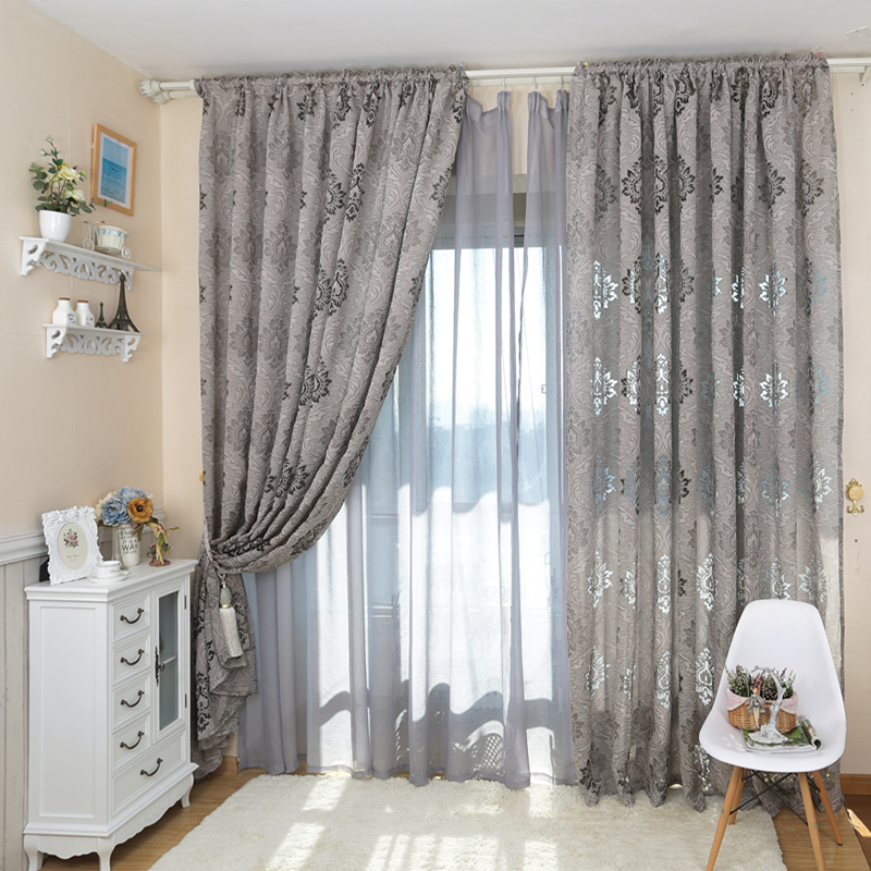 European style luxury jacquard fashion design 3d curtains - European style curtains for living room ...