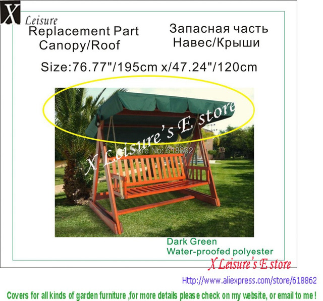 Wooden 3 seater swing canopy replacement 76.77 x47.24 /195x120cmDark  sc 1 st  AliExpress.com & Wooden 3 seater swing canopy replacement 76.77