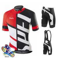Ciclismo Jersey 2019 Pro equipo especializado Ciclismo Ropa MTB Ciclismo babero pantalones cortos hombres bicicleta Jersey conjunto Ropa Ciclismo Triatlón