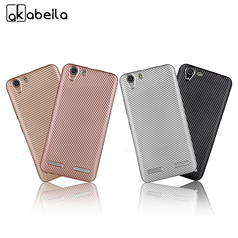 AKABEILA Phone <font><b>Case</b></font> For <font><b>Lenovo</b></font> Vibe K5 K5 Plus Lemon 3 A6020 <font><b>A6020a46</b></font> A6020a40/ C2 Cover C2 Power Carbon Fiber Silicone Covers image