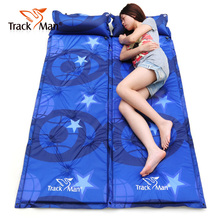 TrackMan widened thicker moisture pad Single inflatable mattress inflatable air cushion outdoor tent