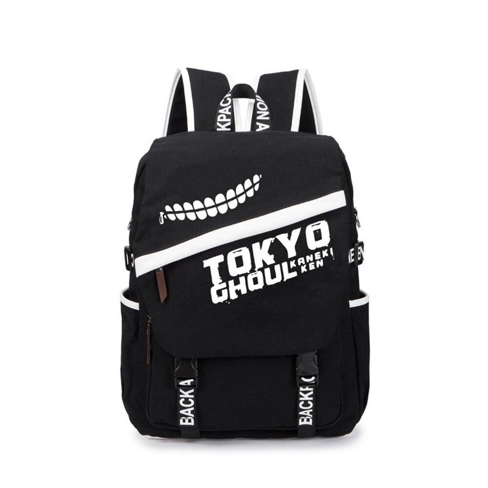 Tokyo Ghoul Backpack Black Element Students Schoolbag Anime Ken Bookbag for Teenage Boys and Girls anime tokyo ghoul dark in light luminous satchel backpack schoolbag shoulder bag boys gilrs cosplay gifts
