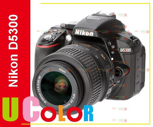 New Nikon D5300 Digital SLR 24.2MP Black Camera with Nikkor 18-55mm VR II  Lens Kit (Mulit Language) new nikon d5500 digital slr camera body with nikon af s dx 18 55mm f 3 5 5 6g vr ii lens