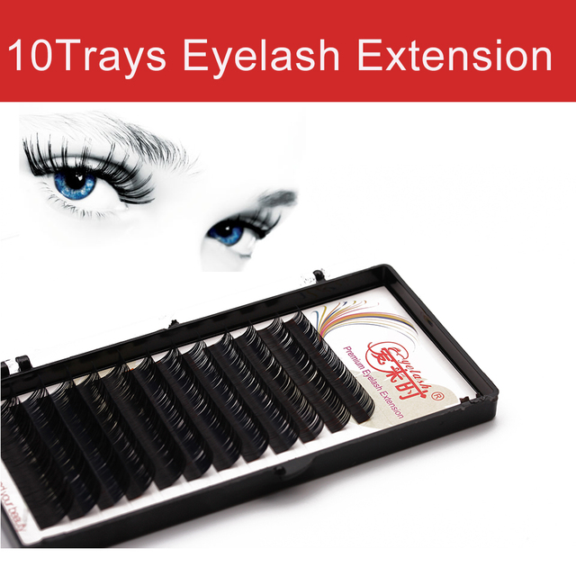 All Sizes 10 Trays 3d Individual Eyelash Extension Natural Long Soft
