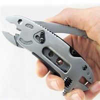 New Outdoor Multitool Pliers Pocket Knife Screwdriver Set Kit Adjustable Wrench Jaw Spanner Repair Survival Hand