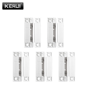 Image 1 - 5 Stks/partij Wired Deur Raam Magnetische Sensor Switch Werk Met Ptsn En Gsm Bedrade Alarmsysteem Deur Window Gap Detector