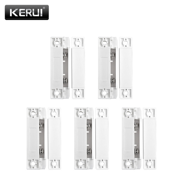5 Stks/partij Wired Deur Raam Magnetische Sensor Switch Werk Met Ptsn En Gsm Bedrade Alarmsysteem Deur Window Gap Detector
