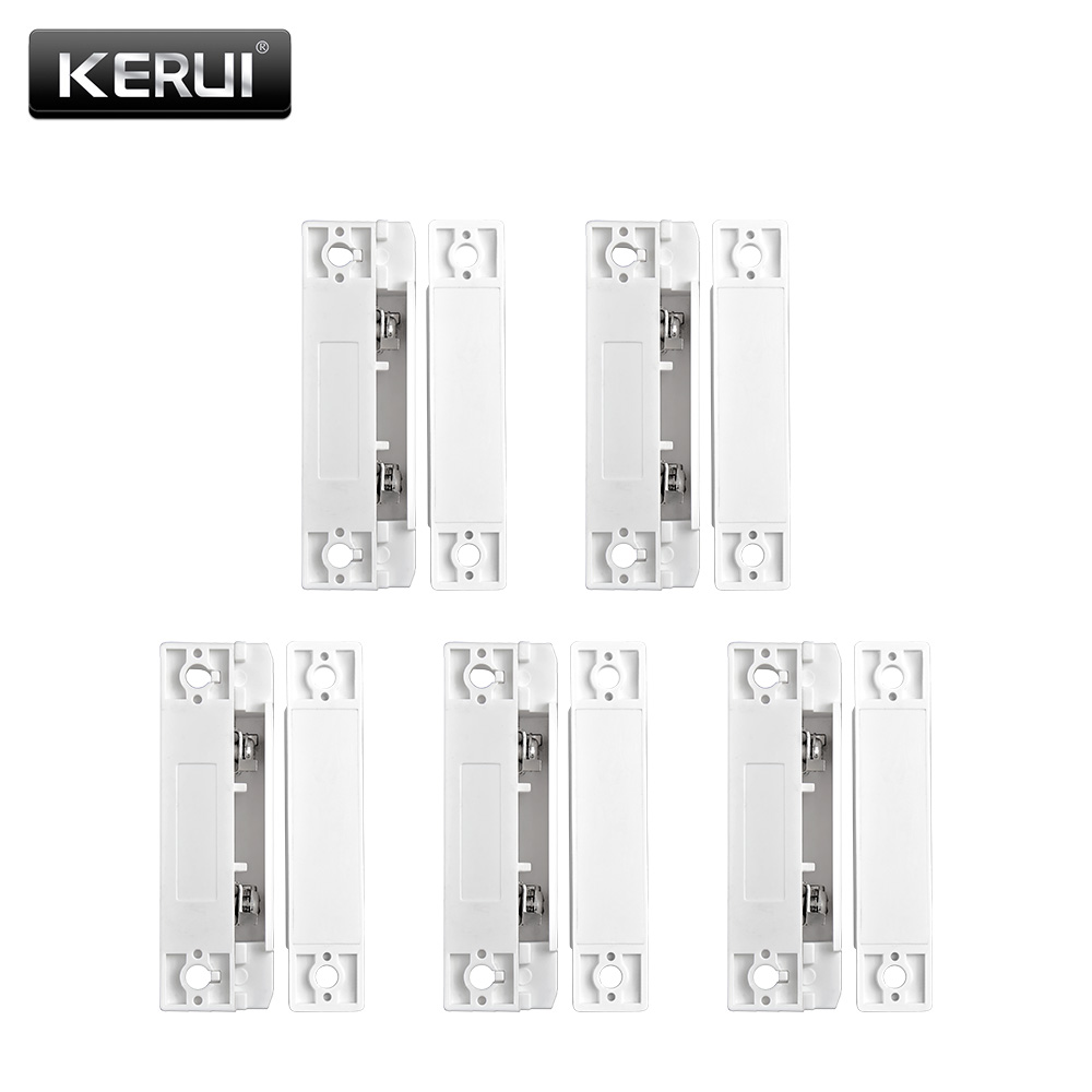 5pcs/Lot Wired Door Window Magnetic Sensor Switch Work With PTSN And GSM Wired Alarm System Door Window Gap Detector wired door window sensor switch wired zone magnetic door open reminder for home gsm alarm system 10a q2