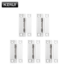 5pcs/Lot Wired Door Window Magnetic Sensor Switch Work With PTSN And GSM Wired Alarm System Door Window Gap Detector