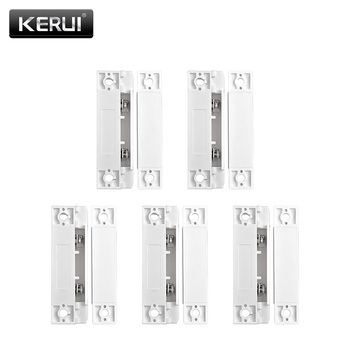 5pcs/Lot Wired Door Window Magnetic Sensor Switch Work With PTSN And GSM Alarm System Gap Detector - discount item  5% OFF Security Alarm