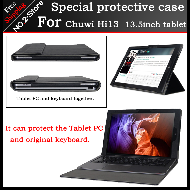Original Business stand Pu leather case For chuwi hi13 13.5 inch tablet PC,Fashion keyboard Protective sleeve For Chuwi Hi13 pu leather folding folio case for chuwi hi13 host and keyboard for 13 5 tablet pc cover case free screen protector gifts