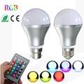 RGB LED Light Bulb E27 B22 3W 10W 16 Color Changing LED Spotlight Flood Lamp Bulb with Remote Control Holiday Lighting 85-265V