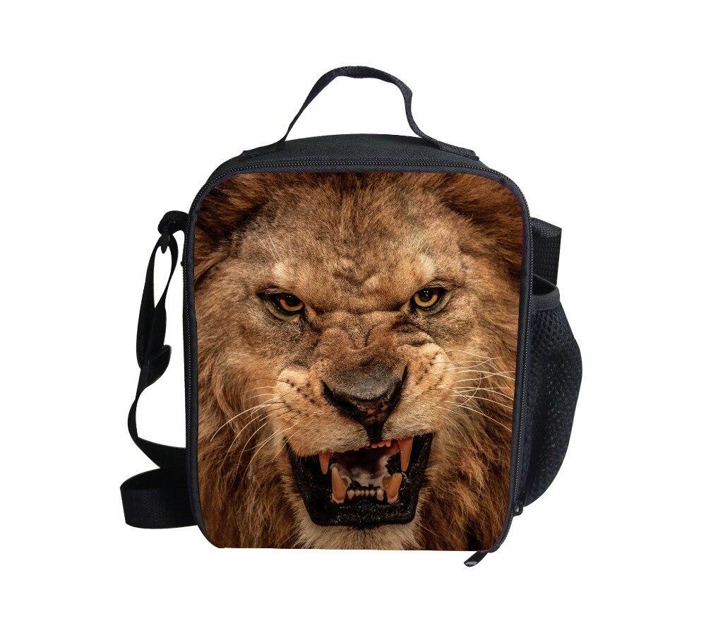 8e5c9fddc3634 Forudesigns gorąca sprzedaż torby na lunch dla dzieci zwierząt procy torba,  moda dzieci zoo lion izolacji lunch lunchbox torba na ramię torba