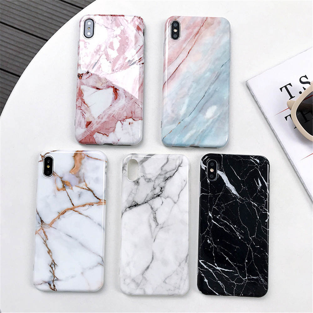 New Marble For Iphone 66S 6P78 8P X Xs Xr Xsma Multi Layer Anti Drop Durable Marble Phone Case in Fitted Cases from Cellphones Telecommunications