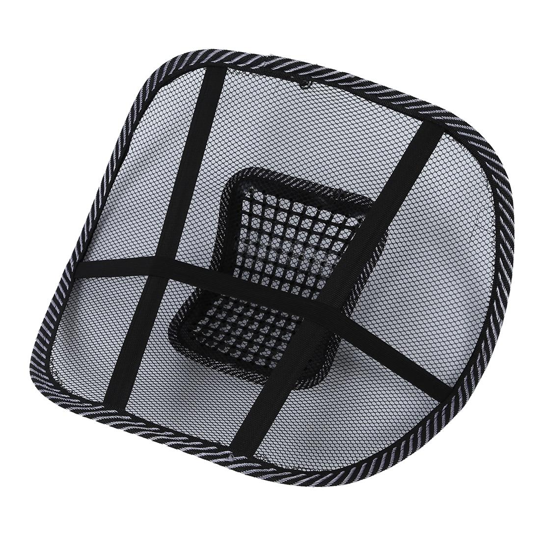Autostoel Stoel Massage Kussen Kussen Demper Lumbale Kussen Zwart + Wit