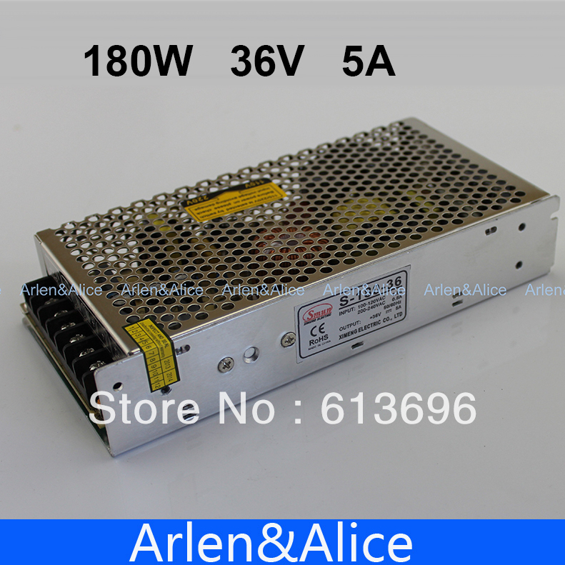 180W 36V 5A Single Output Switching power supply for LED Strip light AC to DC 350w 60v 5 8a single output switching power supply ac to dc for cnc led strip