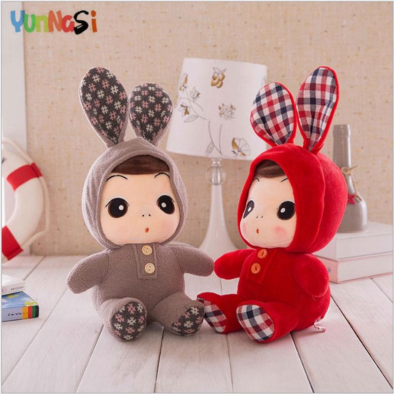 YunNasi 37cm Reborn Baby Dolls Kawaii Plush Toys Kids Accompany Sleeping Dolls Soft Stuffed Toys For Children Gifts Girls