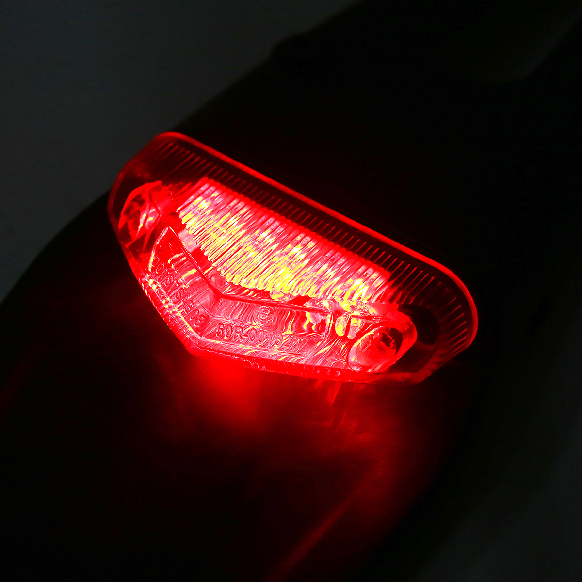 Image 5 - 1PC Motorcycle Off road Rear Fender LED Stop Tail Light For Enduro Trials Trailbikes XR400 For Yamaha WR250/ 450 TTR250 TT600 RE