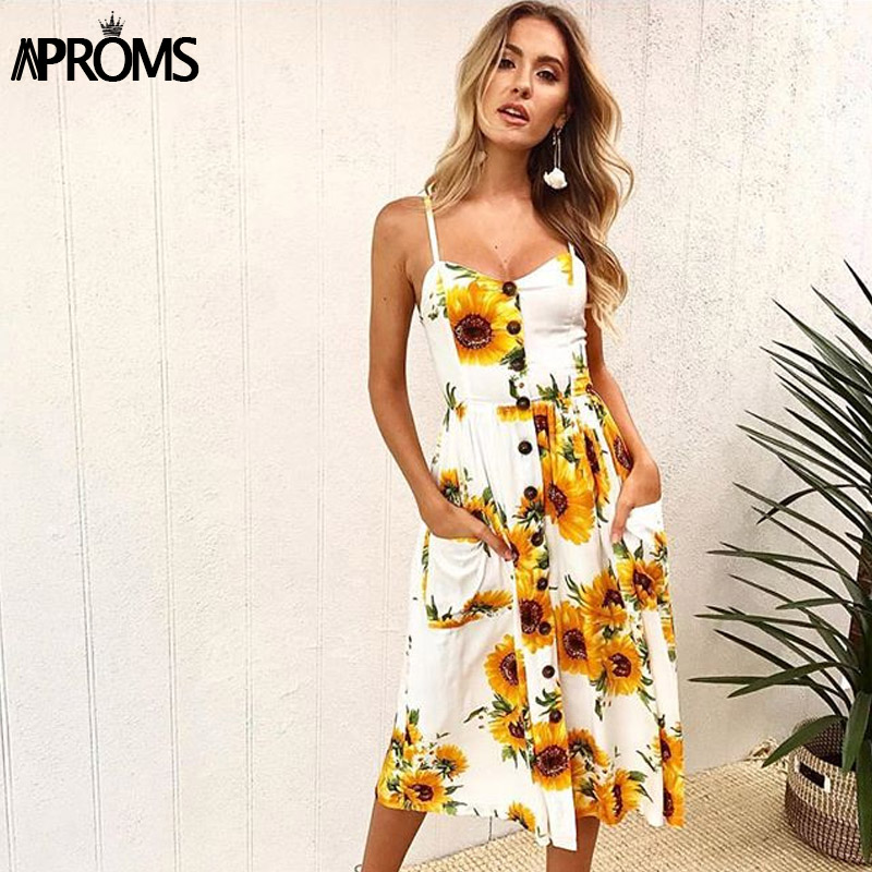 Aproms 27Patterns Print Midi Dress Plus Size Casual V Neck Slim Boho Dress Women Vestido High Wasit Summer Dress Sundresses 2019