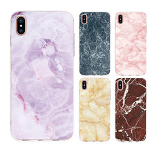 New Marble Mobile Phone Case for For IPhone 6S 7 8 Plus X XS XR MAX Fashion Fantasy Advanced Safety TPU Cover Smooth Surface