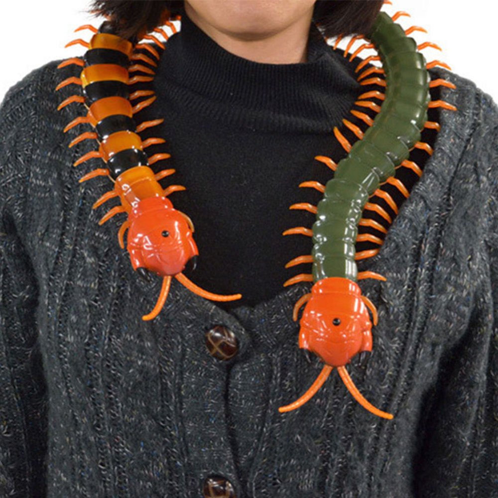 US $16 63 36% OFF|Remote Control simulation Giant Centipede Halloween  Tricky Scary Toy Gift Model For April Fool 's Day-in Gags & Practical Jokes  from