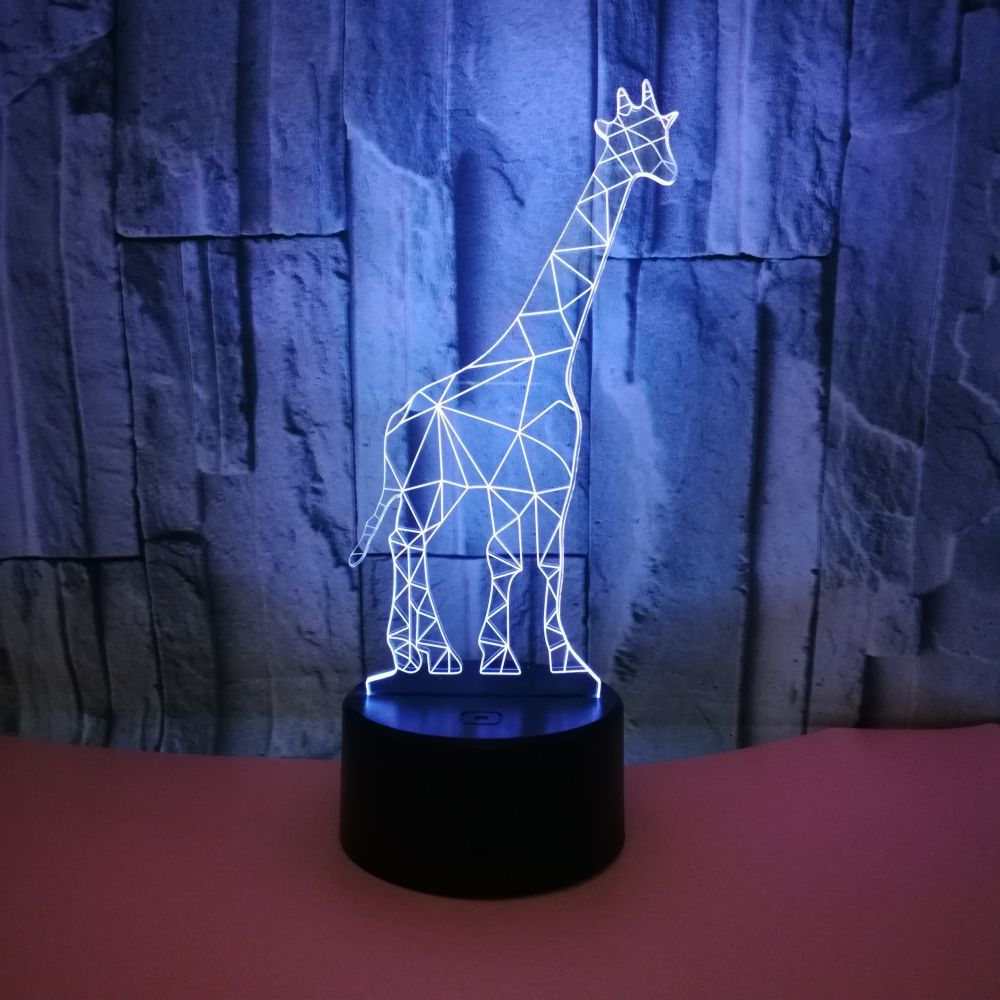 Giraffe 3d Nightlight Touch Remote Control Creative Gift 3d Table Lamp For Birthday Gift BedsideNovelty 3d USB Desk Lamp|LED Table Lamps| |  - title=