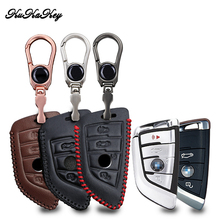 KUKAKEY Leather Car Key Case Cover For Bmw X5 F15 E53 X1 F48 X3 E83 X4 G30 F10 F31 F30 E30 E38 E39 E46 F07 Shell Accessories