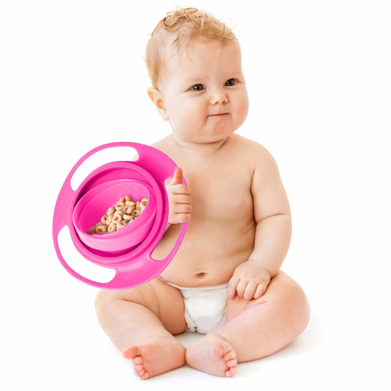 Hot Sale Design Universal Gyro Bowl Dishes Anti Spill Bowl Smooth 360 Degrees Rotation Gyroscopic Bowl For Baby Kids Baby Kids