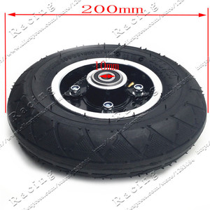 """Image 2 - Electric Scooter Tyre With Wheel Hub 8"""" Scooter 200x50 Tyre Inflation Electric Vehicle Aluminium Alloy Wheel Pneumatic Tire"""