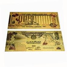 500 Dirham Gold Foil Banknotes United Arab Emirates Fake Money with Envelope academics knowledge sharing behaviour in united arab emirates