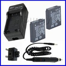 Батарея (2 шт) + Зарядное устройство для Panasonic cga-s005, CGA S005, s005e, cga-s005a/1B, CGA-S005E, dmw-bcc12 литий-ионный Перезаряжаемые
