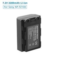 NP FZ100 NP FZ100 2280mAh wymiana obiektywu bateria do sony Alpha a9 A7R III  A7 III  ILCE 9  ILCE9  ILCE 7RM3  ILCE 7M3  Mark III w Baterie cyfrowe od Elektronika użytkowa na