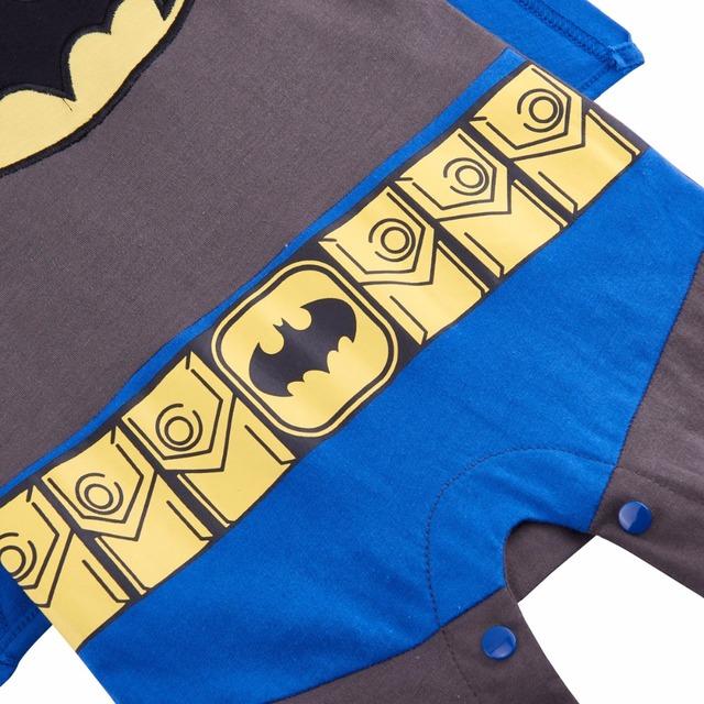 Bébé Garçon Batman Costume Barboteuse Infantile Salopette 0-24 Mois