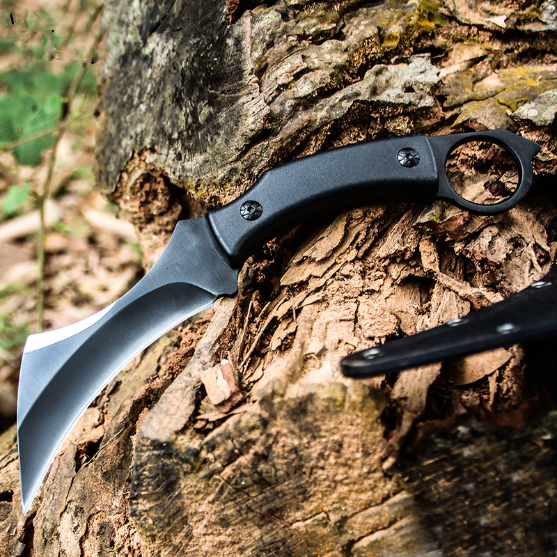 High Hardness Army Tactical Karambit Knife Outdoor Claw Machete Hunting Fixed Blade Knives Combat Survival Gear Camping EDC Tool 1